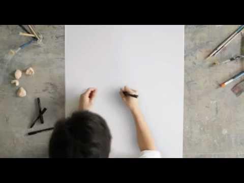 一筆で名画を描く神技アーティストの動画