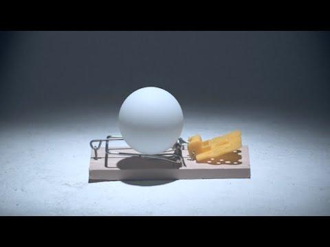 ネズミ捕獲機とピンポン玉を組み合わせた化学反応みたいなCM