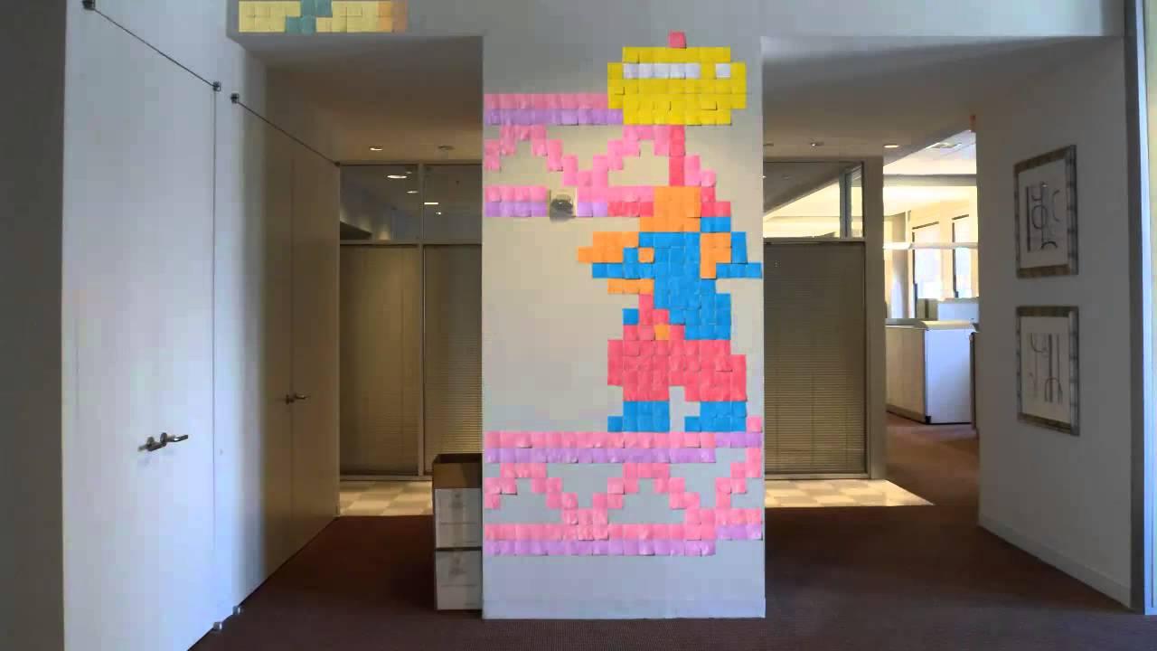 ポストイットで製作された有名ゲームのストップモーションムービー