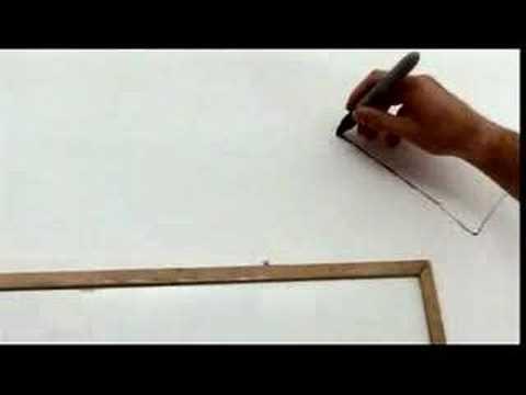 一筆書きでここまで描ける! 壁一面の一筆書き
