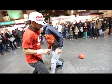 テクニックが半端ない! ストリートでのサッカーパフォーマンス