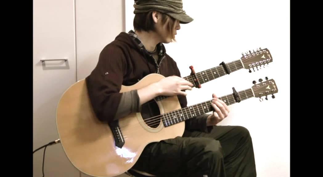 ダブルネックギターを指弾きで奏でる神技動画