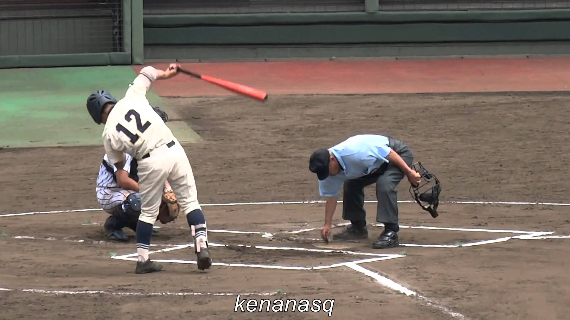 高校野球の馬場優治選手のバット捌きが面白いと話題