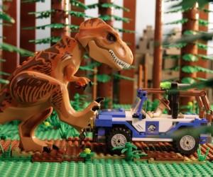 レゴで製作されたジュラシックワールドがコミカルで面白い