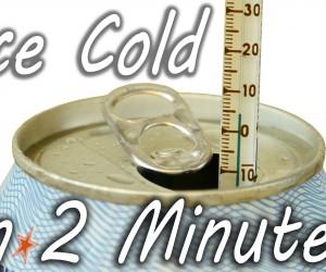 ぬるい缶ジュースやビールを2分でキンキンに冷やす方法