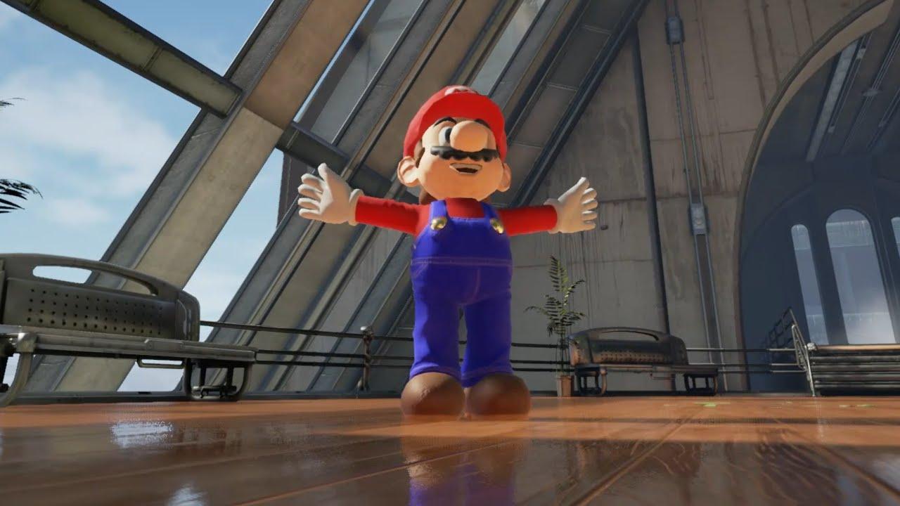3Dゲームエンジンで製作されたマリオがリアルすぎる!