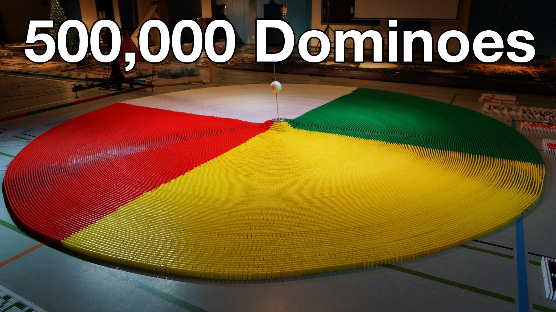 ギネス世界記録にのった50万ピースのドミノ倒しが圧巻!