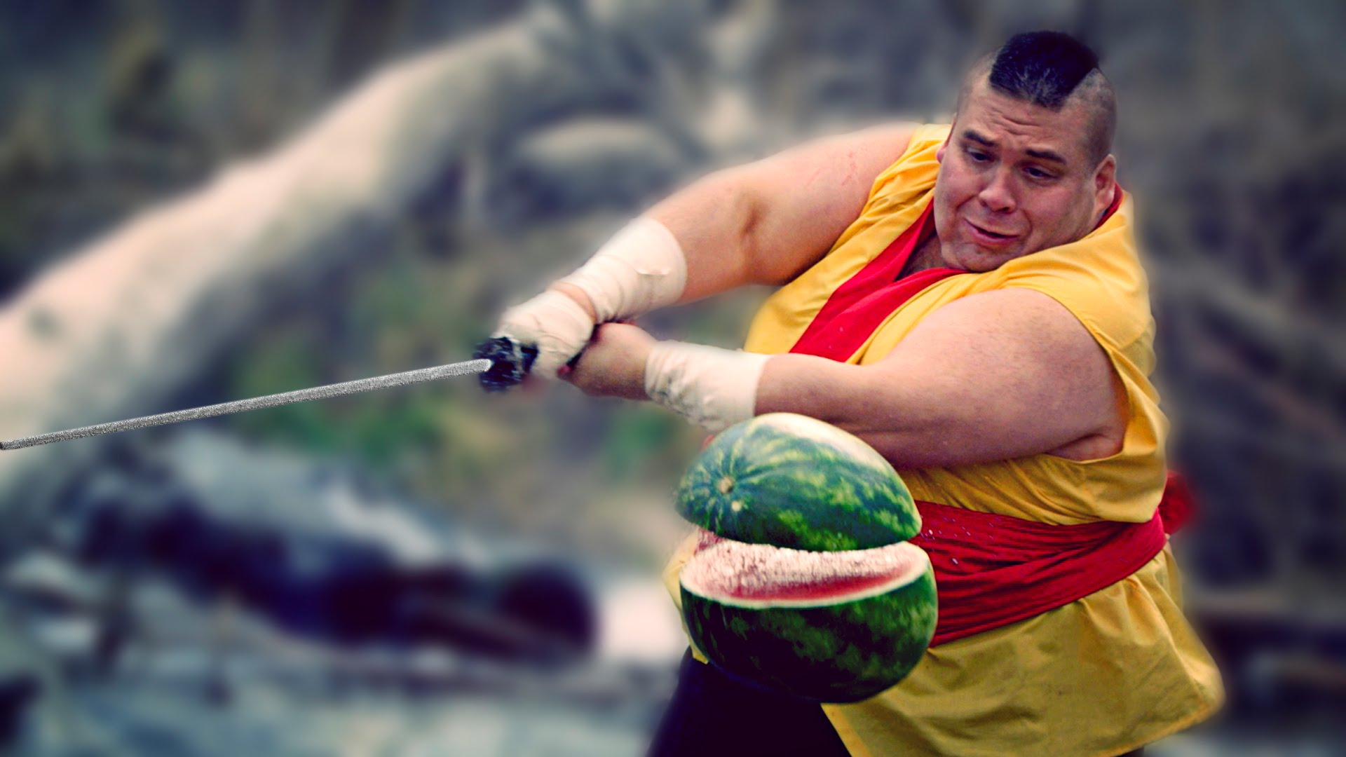 ふくよかな忍者が日本刀で大暴れする動画がシュール