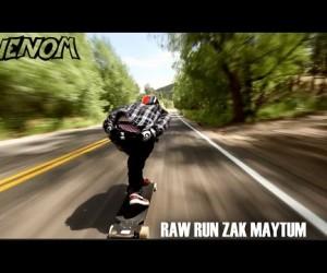 疾走感がすごい! 時速70kmで駆け抜けるスケートボード