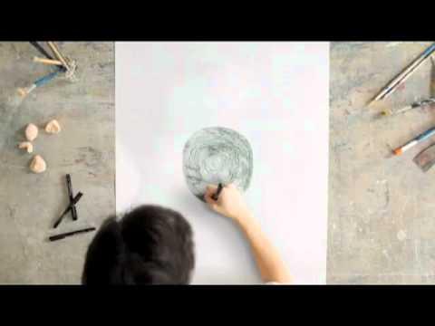 【神技動画】グルグルと円を描くだけであの絵ができる動画