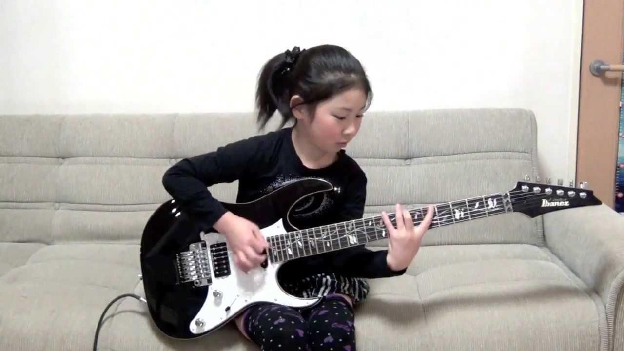 【ギター動画】8歳の女の子とは思えないほどのギターテクニックがすごい!