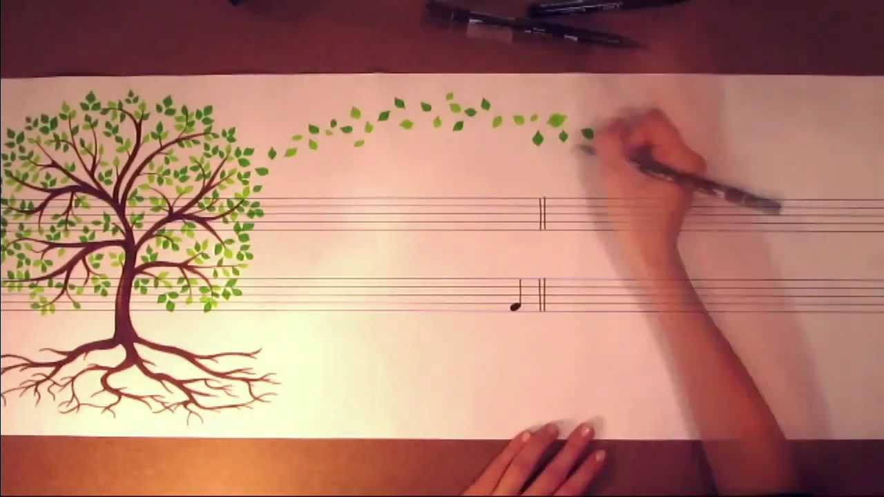 楽譜とアートと音楽を融合した動画が癒されます
