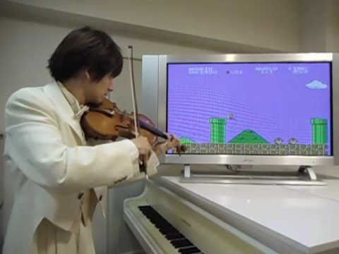 スーパーマリオの効果音までヴァイオリンで再現!