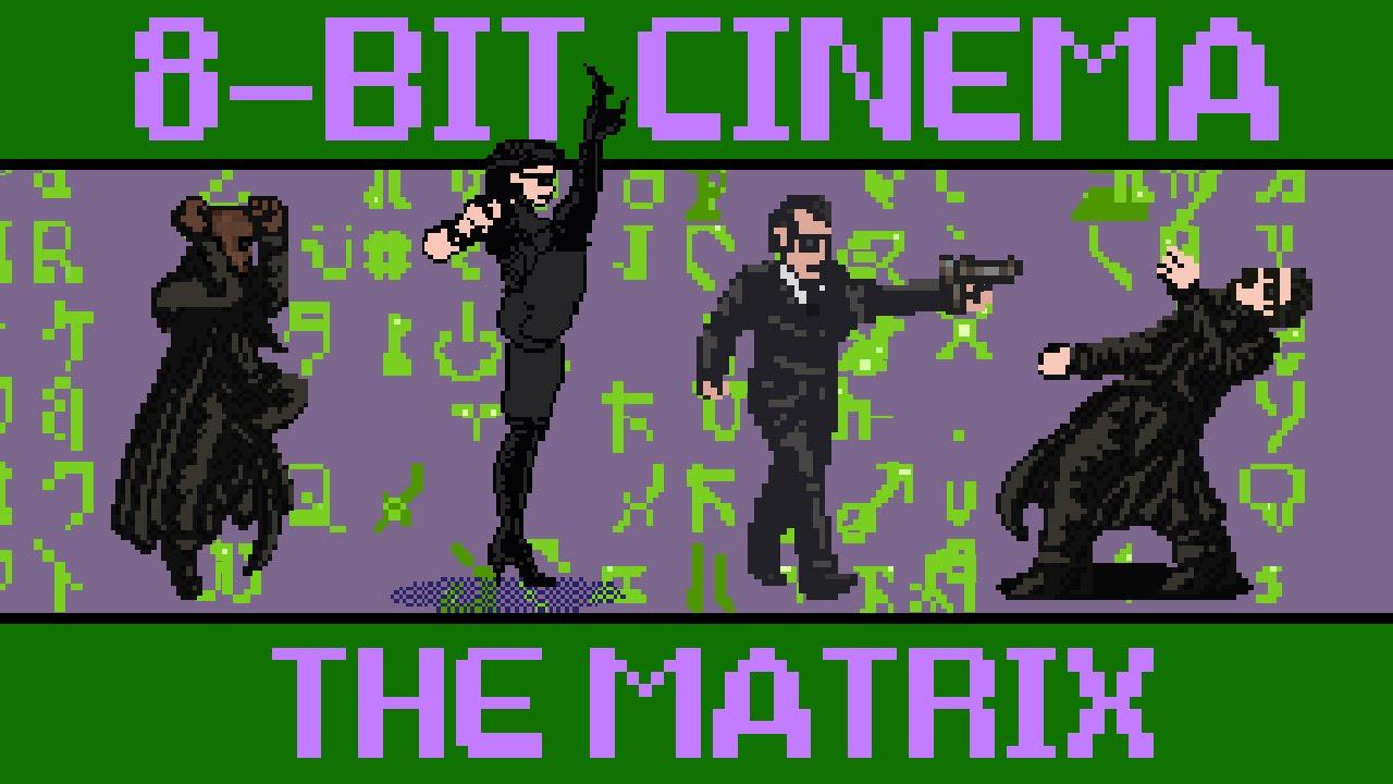 ドット絵で描かれたマトリックスの動画が素晴らしい