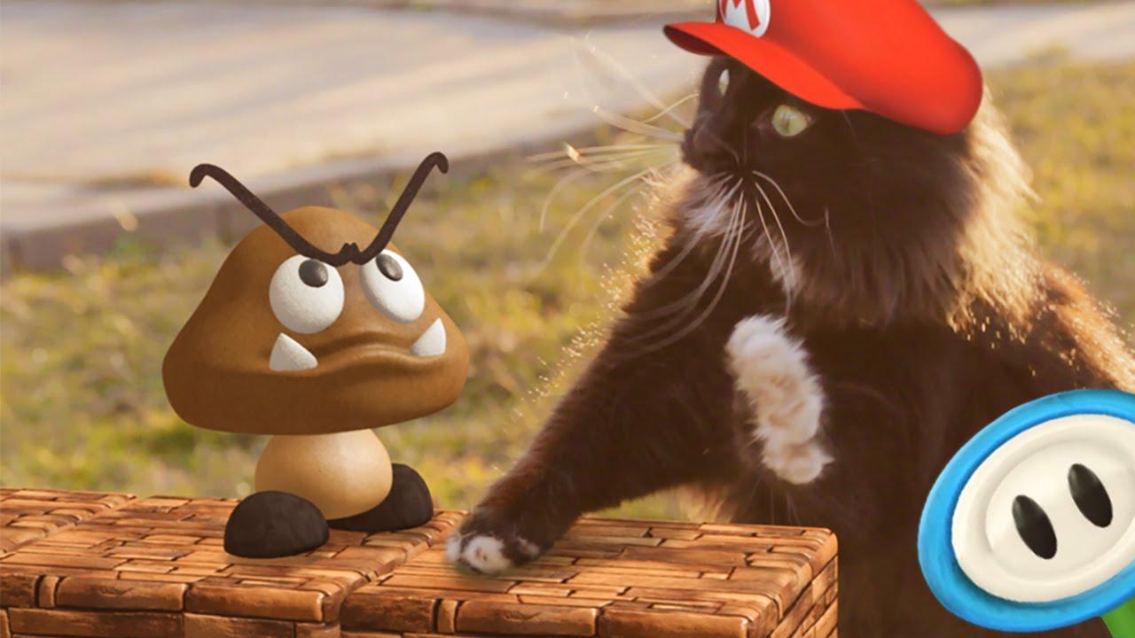 猫版スーパーマリオの動画が色々フリーダム