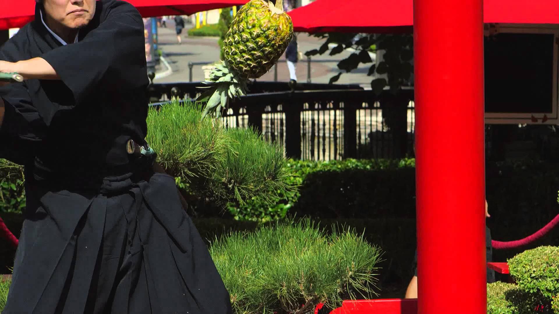町井勲氏による果物を空中で斬りまくる動画が格好良い