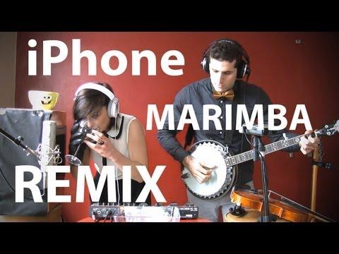 iPhoneの着信音「マリンバ」を用いて演奏する動画が素敵