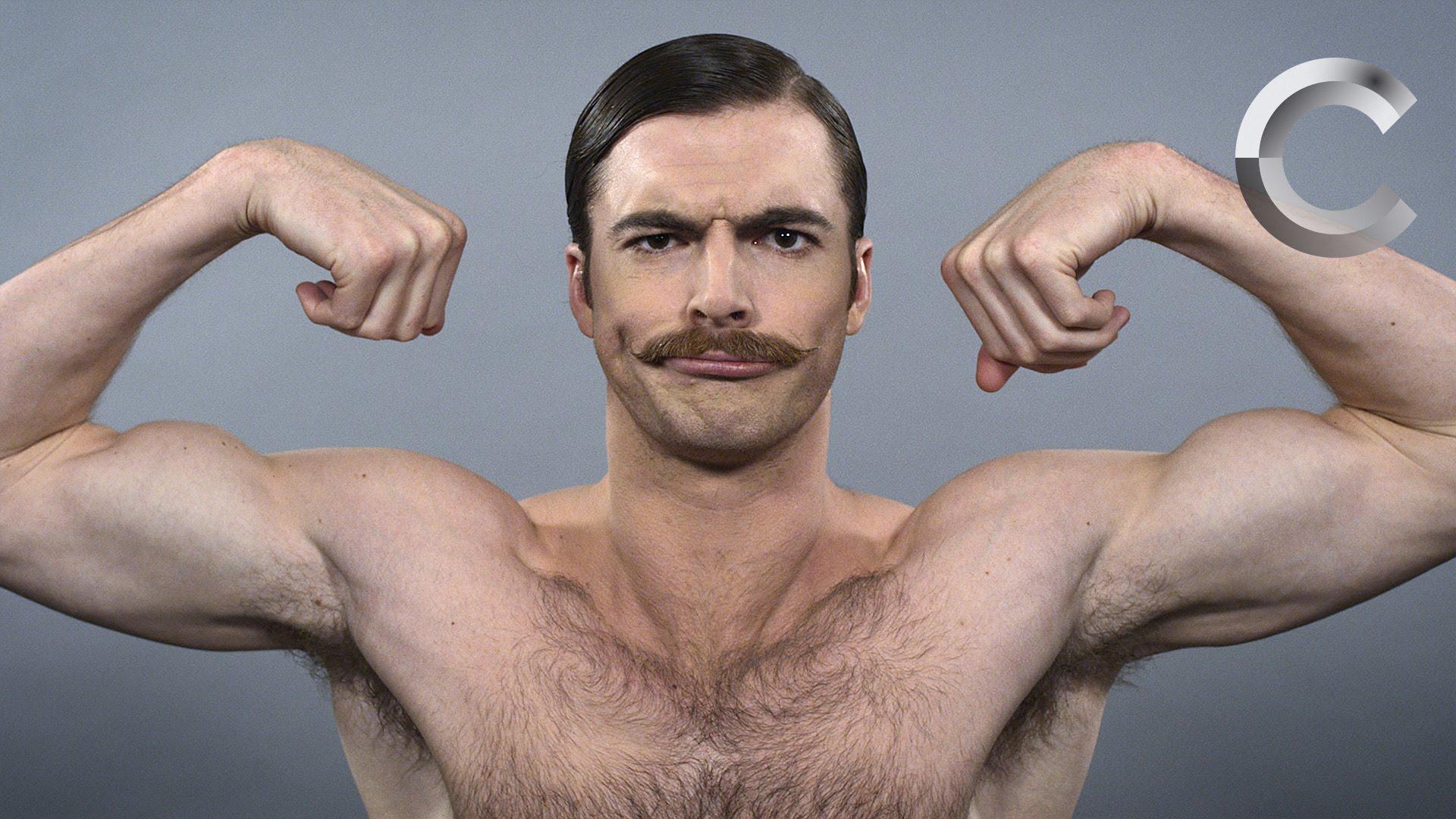 100年間の男性のヘアスタイルを90秒で再現