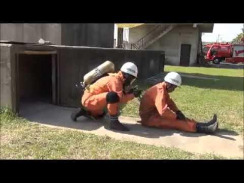 消防士のすさまじい訓練の様子を撮影した動画