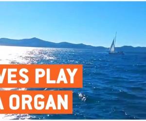 波音をパイプオルガンの音に変換する「海のオルガン」の音色が美しい