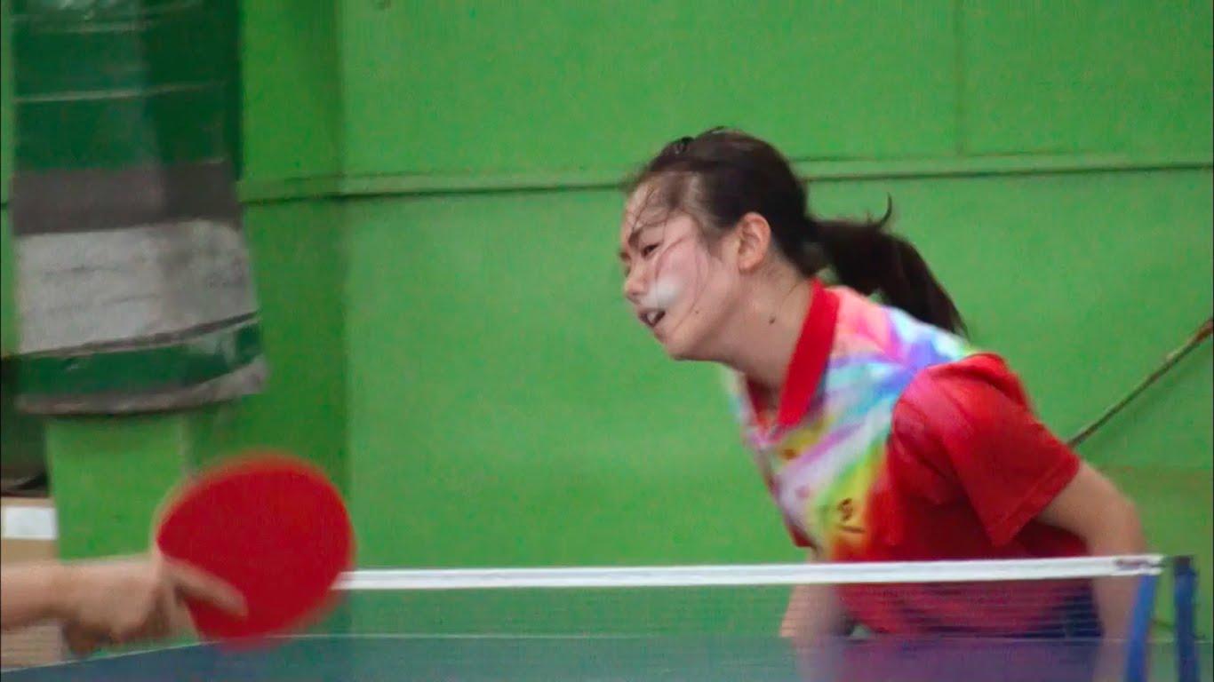 顔面ブロックならぬ顔面卓球が衝撃的!