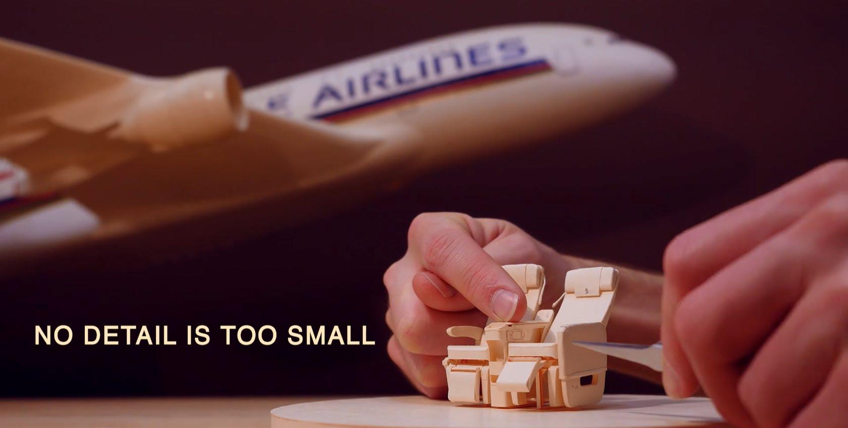 紙で作る飛行機の座席が精密すぎる!