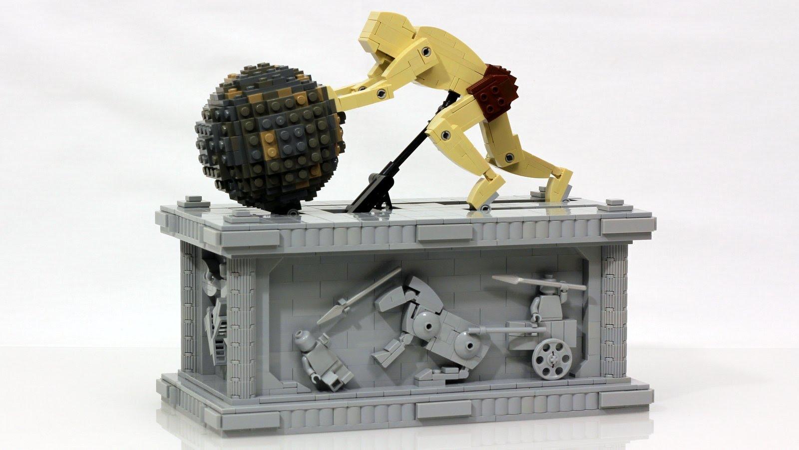 神話「シーシュポスの岩」をレゴで再現!