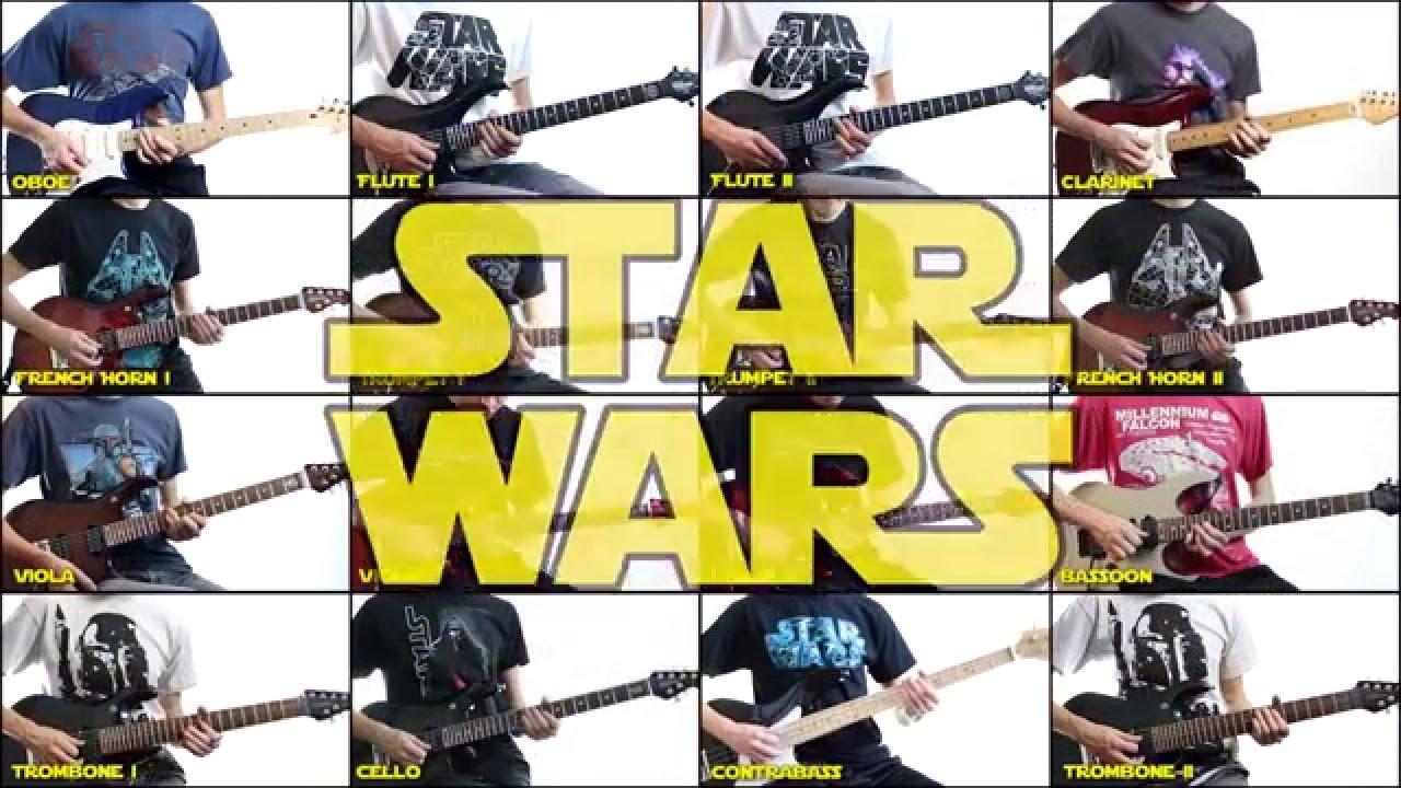 スターウォーズのテーマの全パートをギターで演奏!