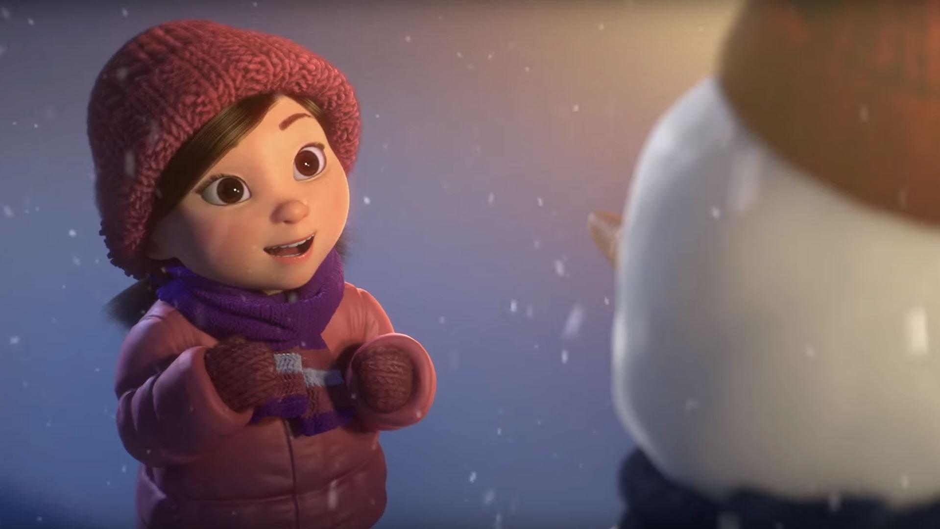 感動ショートアニメ「リリーと雪だるま」がウルっとくる