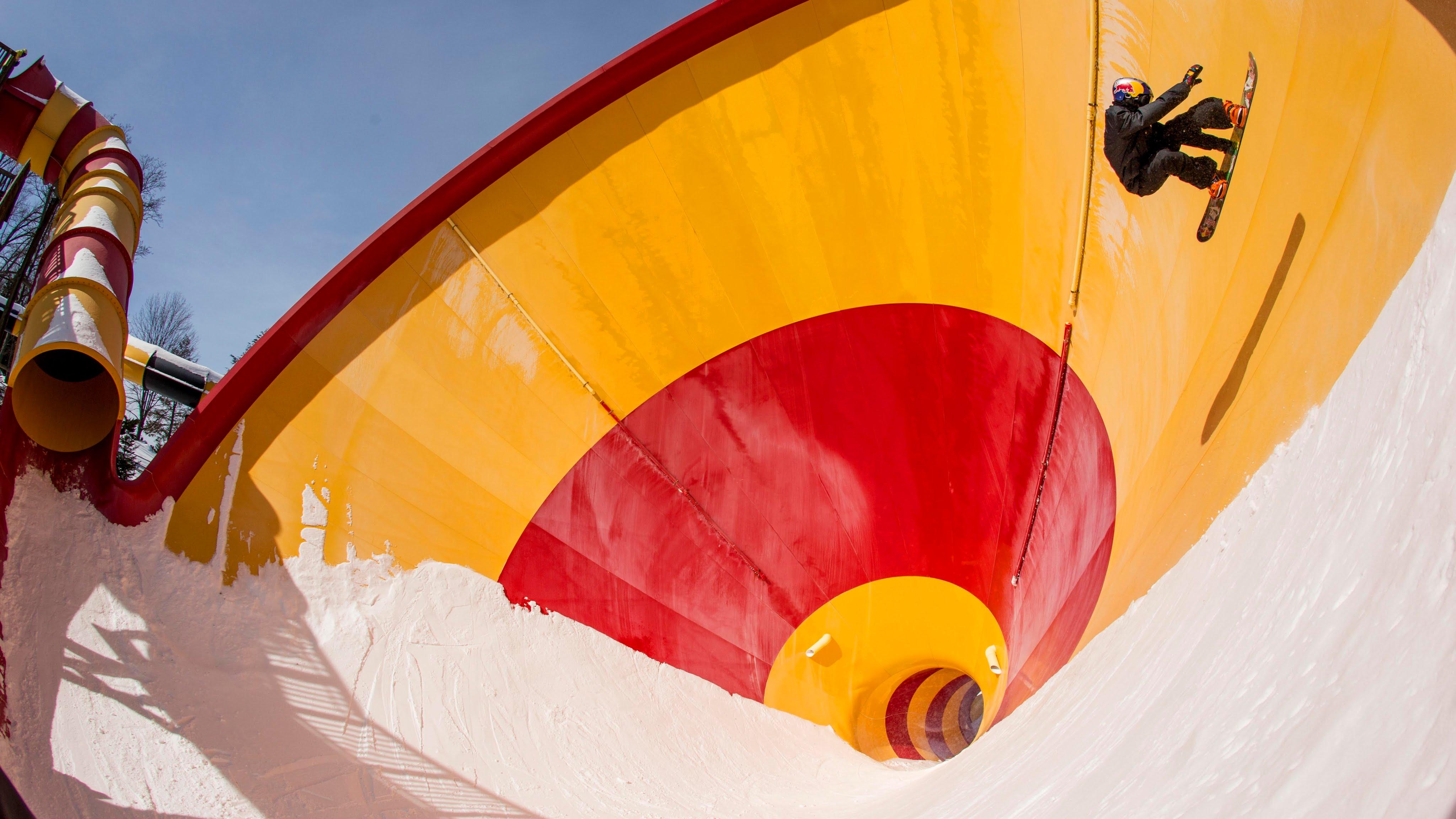 ここまで滑れたら楽しそう! 様々な場所をスノボで滑走!