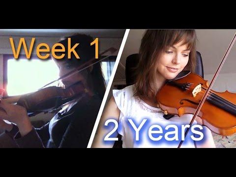 バイオリンの練習風景を2年撮影した動画に勇気をもらえる
