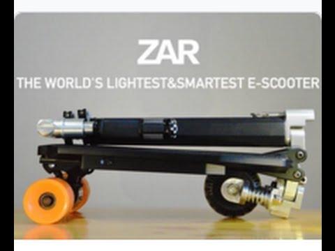 重さなんと4kg! 世界最小の電動スクーター
