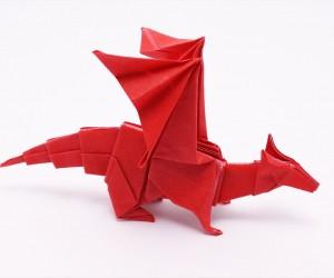 これで誰でも作れる、かもしれない折り紙でドラゴン