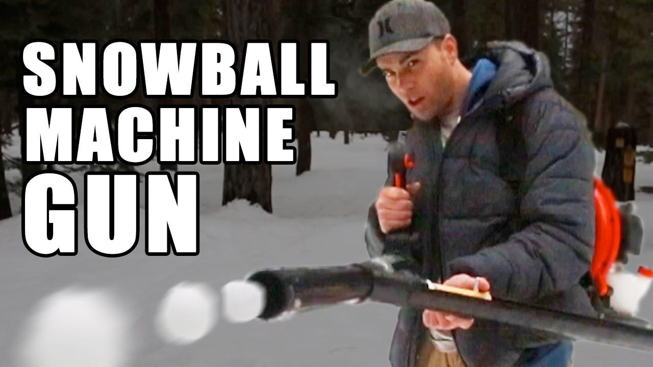 破壊力高すぎ……? 雪合戦で活躍しそうな雪玉マシンガン
