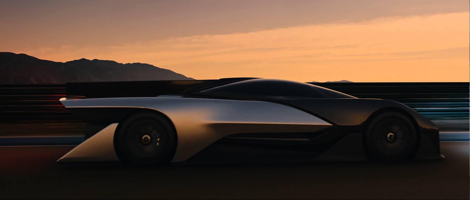 320km/h超えのEVカー、FFZERO1の美しいフォルム