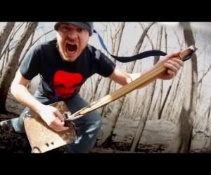 ありえない組み合わせ、シャベルxギターxヘヴィメタル