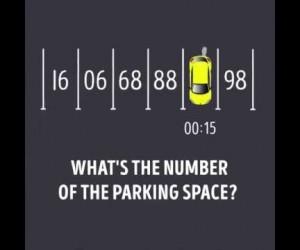 君は解けるか?香港の小学校入試問題。「車がとまっている駐車場のナンバーは?」