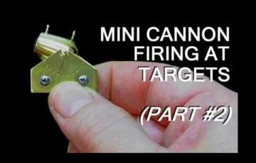 手のひらサイズでこの威力!?ミニチュアサイズの大砲の威力がすさまじいw